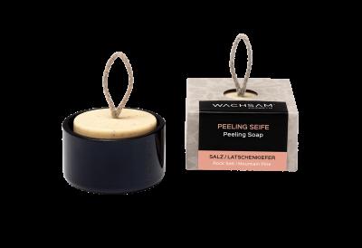 Koerperpeeling-Seife Salz-Latschenkiefer mit Schale aus Recyclingglas_TPi_20180906_105846_21Fret_WAC